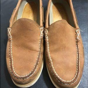 G.H.BASS Leather Hampton Venetian Boater for men